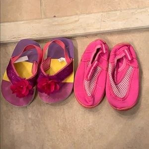 Toddler girl bundle lot summer shoes 6